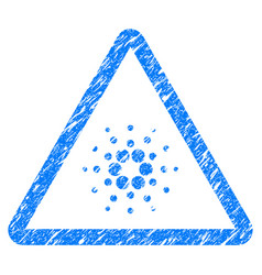 Cardano danger icon grunge watermark vector