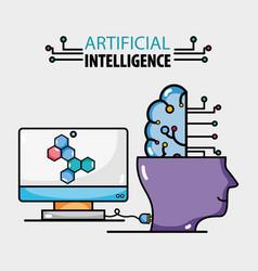 Computer tecnology connection with artificial vector