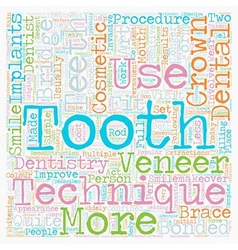 Cosmetic dentistry latest techniques explained vector