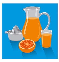 fresh grapefruit juice vector image vector image