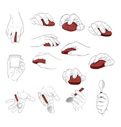 hand holding object vector image