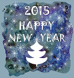 Happy New Year Greeting Card Happy holidays vector image