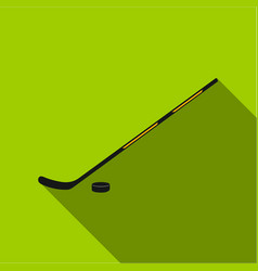 Hockey icon flate single sport icon from the big vector