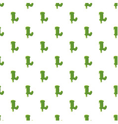 Letter l made of green slime vector