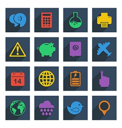 media icons set 3 vector image vector image