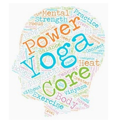 Need power Try Core Power Yoga text background vector image vector image