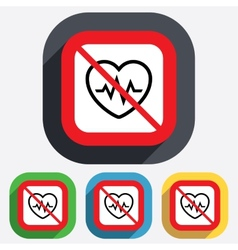 Not overwork heartbeat sign icon cardiogram vector