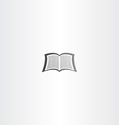 Open notebook or newspaper book logo icon vector