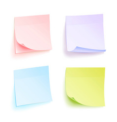 Paper work notes isolated set of color vector