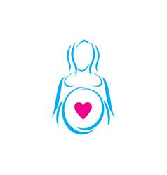 pregnant logo vector image