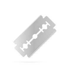 razor blade on white background vector image vector image