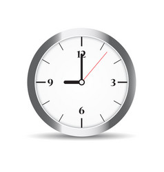Round clock with numbers on white vector