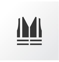 Safety vest icon symbol premium quality isolated vector