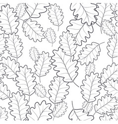 seamless pattern of autumn foliage vector image vector image