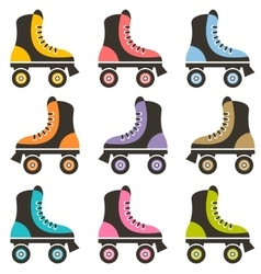 set of roller skates vector image
