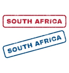 South africa rubber stamps vector