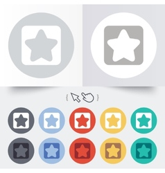 Star sign icon Favorite button Navigation vector image vector image