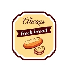 Sticker fresh bread vector
