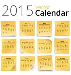 Stiky calendar vector image