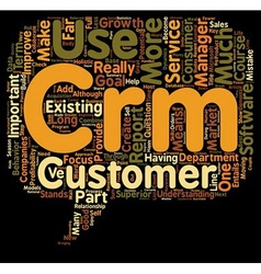 The importance of c in crm text background vector