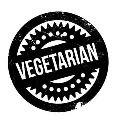 vegetarian rubber stamp vector image vector image