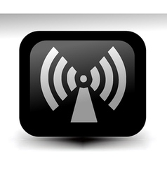 Wireless icons vector image vector image