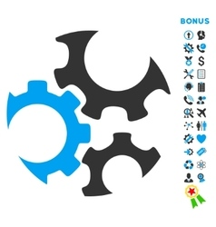 Mechanics flat icon with bonus vector