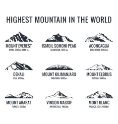 Mountain tourist logos set Posters vector image