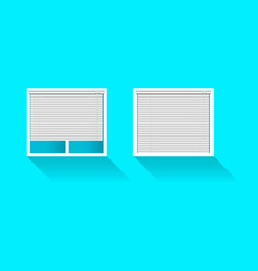 plastic window with blinds vector image