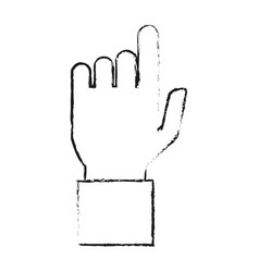 Blurred silhouette hand pointing to front vector