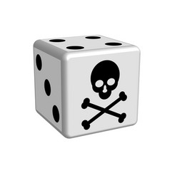 Dice game danger in 3d vector
