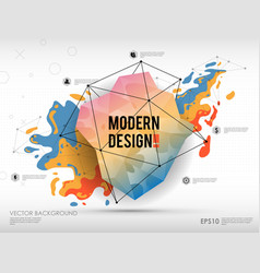 Modern abstract background with paint spot and vector