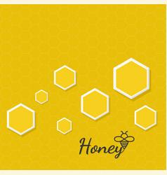Icon honeycomb vector