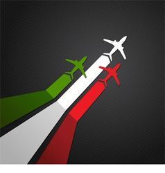 Italy plane vector image