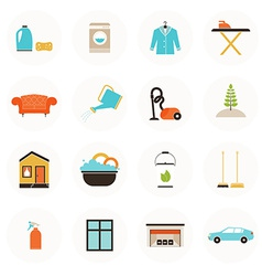 Housekeeping icons vector