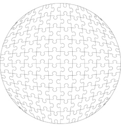3d puzzle ball in color 22 vector image vector image