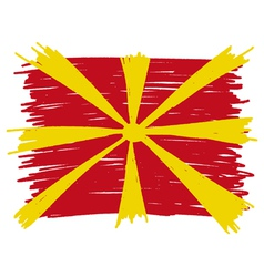 Flag of macedonia handmade vector