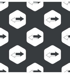 Black hexagon straight opposite pattern vector