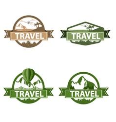 vintage travel vector image
