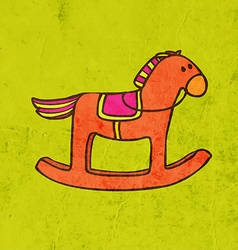 Rocking horse cartoon vector