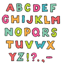 Font a to z alphabet vector
