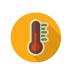 Thermometer retro flat icon meteorology weather vector