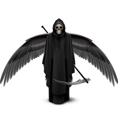 Two-winged angel of death vector