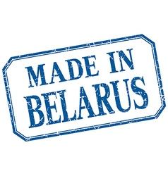 Belarus - made in blue vintage isolated label vector
