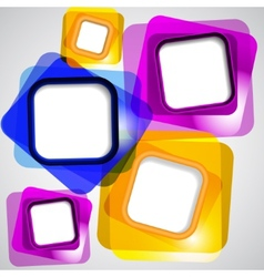 Abstract background of color squares vector image