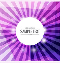 Abstract funky purple background with rays coming vector