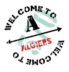 Algiers stamp rubber grunge vector