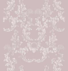 baroque damask pattern royal fabric vector image vector image