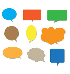 Blank empty colors speech bubbles vector