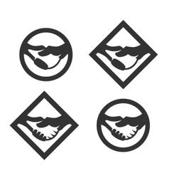 Business handshake logo vector